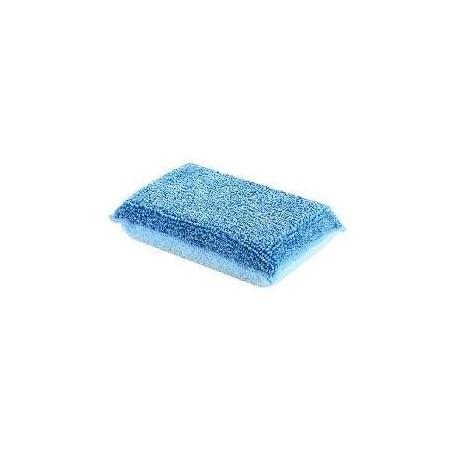 Eponge microfibre bleue