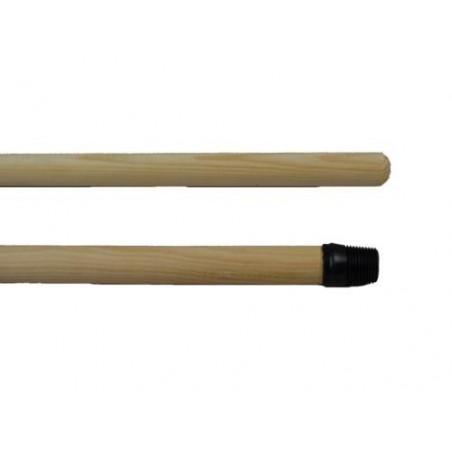 Manche à balai bois avec vis