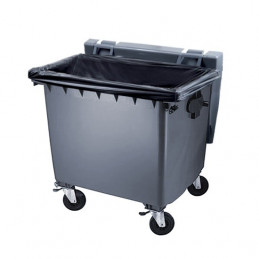 Housse conteneur 660L noir