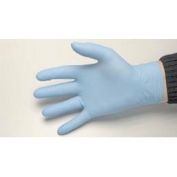 Gant latex poudré bleu