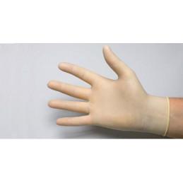 Gant latex non poudré blanc