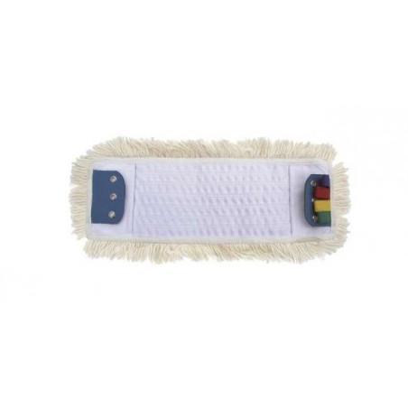 Frange coton poches et languettes 3 oeillets 40cm