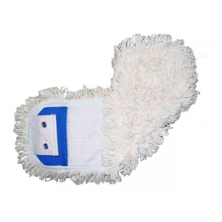 Frange coton poches et languettes 2 oeillets 50cm