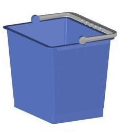 Seau rectangulaire bleu 6L
