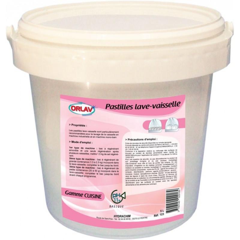 Pastille lave vaisselle pro ORLAV 5Kg