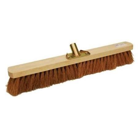 Balai Coco monture bois douille métal