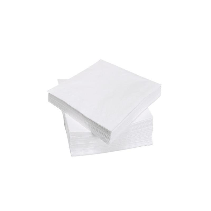 Serviette de table en papier Blanche 40x40