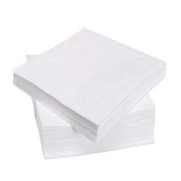 Serviette de table en papier Blanche 30x30 SATEN 1/4