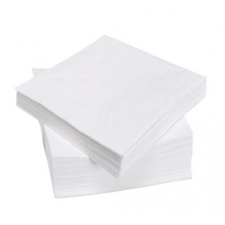 Serviette de table en papier Blanche 30x30