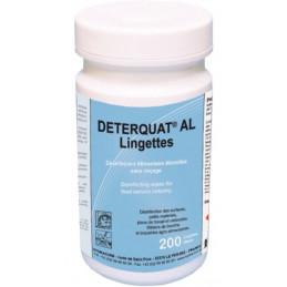 Lingettes désinfectantes surfaces alimentaires Deterquat AL 200 lingettes
