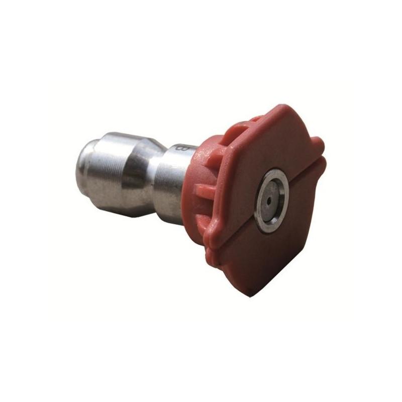 Buse nettoyeur haute pression rouge encliquetage rapide O40 Agle 0°C