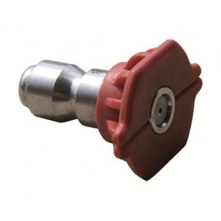Buse nettoyeur haute pression rouge encliquetage rapide O40 Angle 0°C