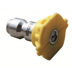Buse nettoyeur haute pression jaune encliquetage rapide O35 Angle 15°C