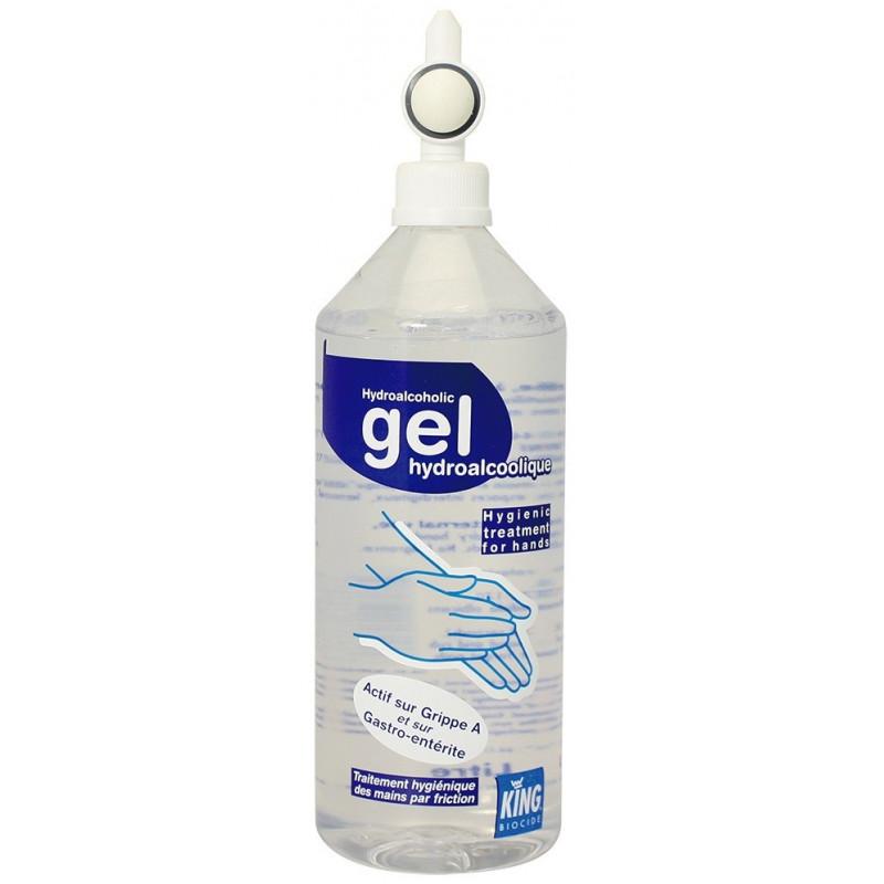 Gel hydroalcoolique King flacon airless 1 litre