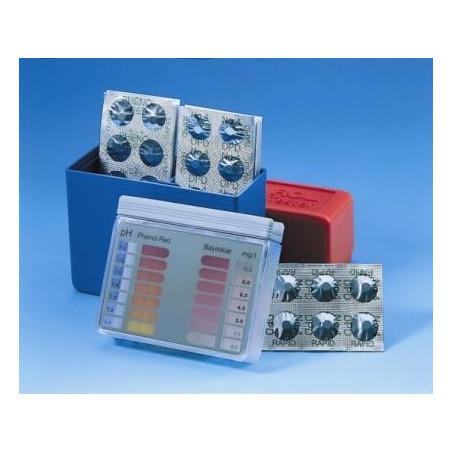Réactifs pour photomètre Pilules Phénol Red (Ph) noires BAYROL boite de 250
