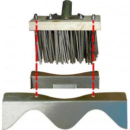 Ensemble racloirs acier pour balai métal DALEP
