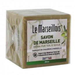 SAVON DE MARSEILLE Savon Cube Olive 300g LE MARSEILLOIS