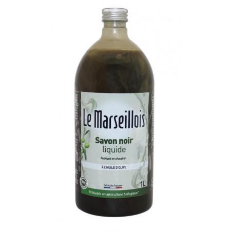 SAVON NOIR LIQUIDE à l'huile d'olive 1L LE MARSEILLOIS
