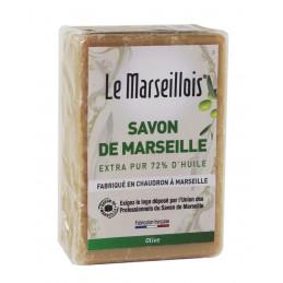 SAVON DE MARSEILLE Savonnette Olive 250g LE MARSEILLOIS