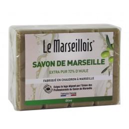 SAVON DE MARSEILLE Savonnette Olive 4x100g LE MARSEILLOIS