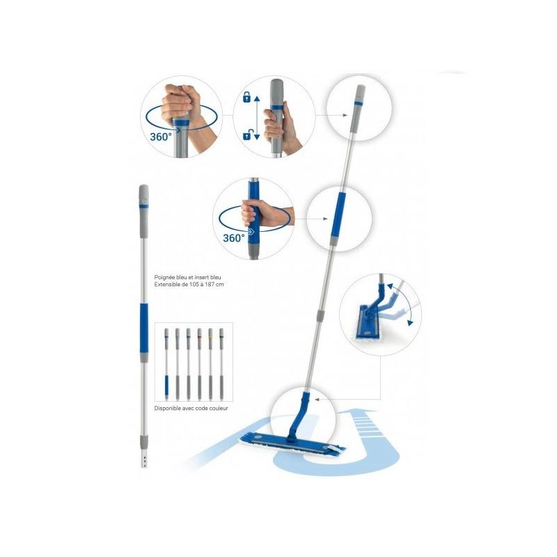 Manche télescopique ergonomique Ergoswing Filmop 105-187cm