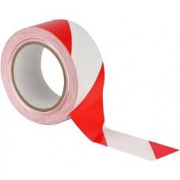 Ruban de signalisation rubalise 100m rouge et blanc
