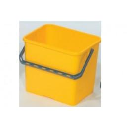 Seau rectangulaire jaune 6L
