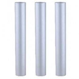 Lot de 3 tubes Alu Chromé 50cm pour aspirateur YP 1/6 Eco B ICA