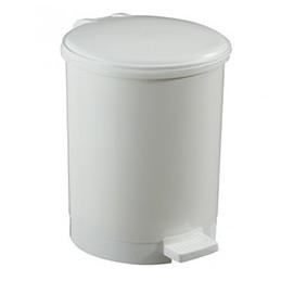 Poubelle ronde blanche plastique
