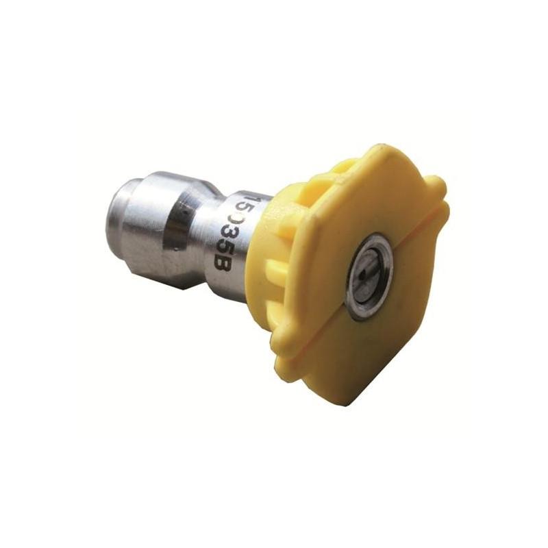 Buse nettoyeur haute pression jaune encliquetage rapide O40 Angle 15°C