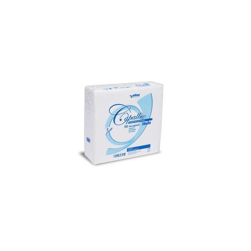 Serviette de table en papier blanc 38x38 CAPALBIO 2V