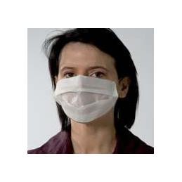 Masque visiteur blanc 2 plis Lot de 100