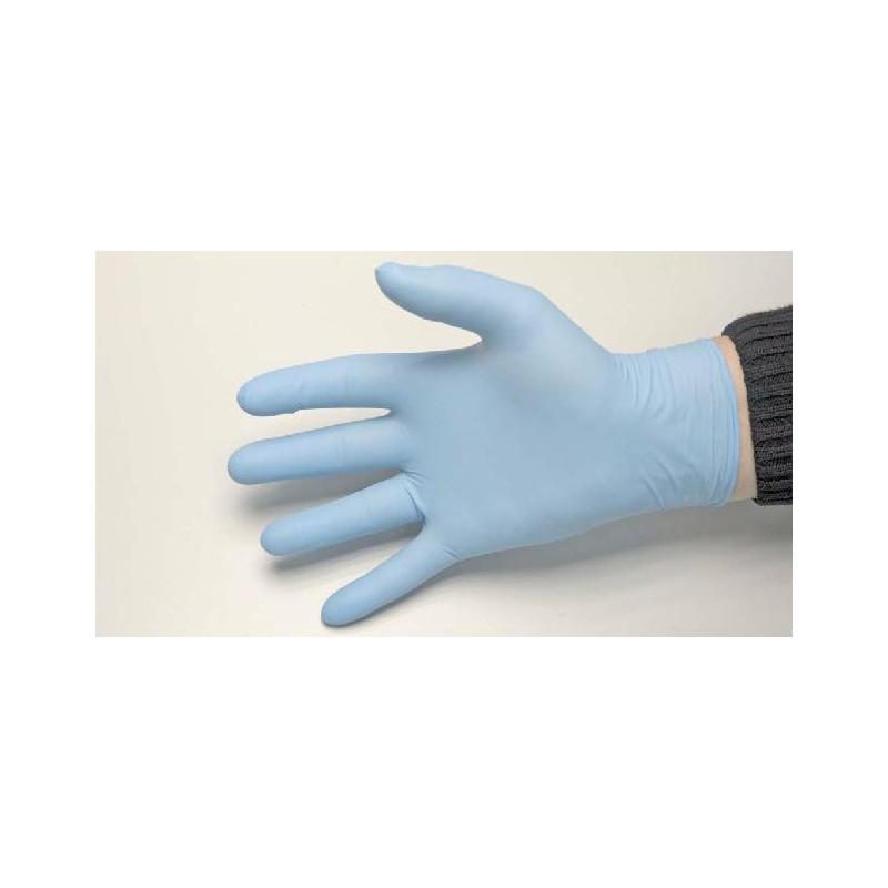 Gant jetable en latex poudré bleu PARMADIS