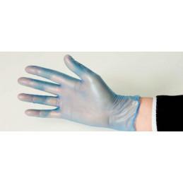 Gant jetable en vinyle bleu poudré Lot de 100